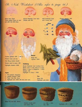 サンタクロースとかごの描き方