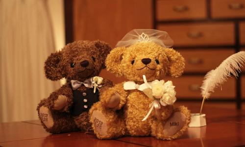 結婚お祝い テディベア ぬいぐるみ