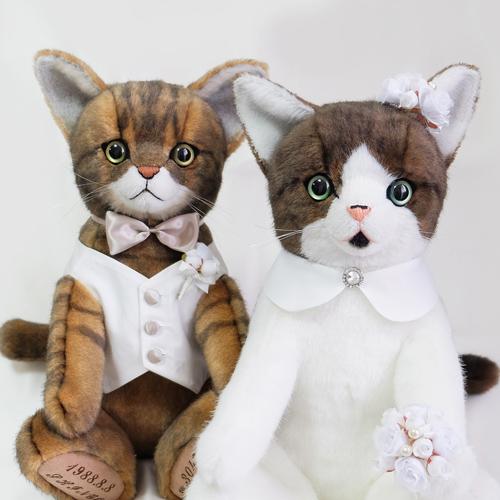 猫のぬいぐるみオーダー キジトラ ウェイトキャット