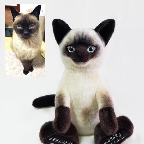 愛猫 シャム猫 ぬいぐるみ ウエイトドール ペット