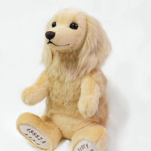 愛犬に似てるウェイトドール ダックス クリーム ペットのぬいぐるみ