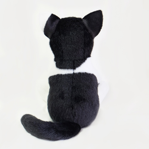 白黒ハチワレ猫のウェイトキャット ぬいぐるみ サプライズ