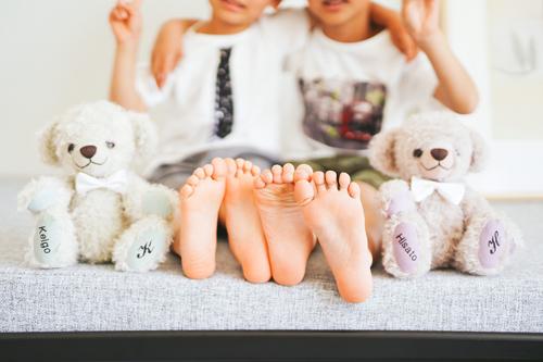 刺繍入りテディベア 家族写真