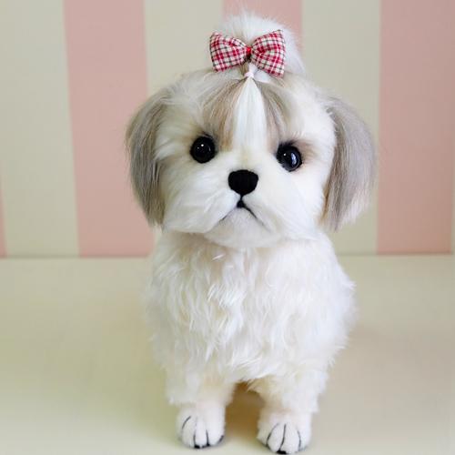 愛犬の写真からぬいぐるみ制作 シーズーのぬいぐるみ
