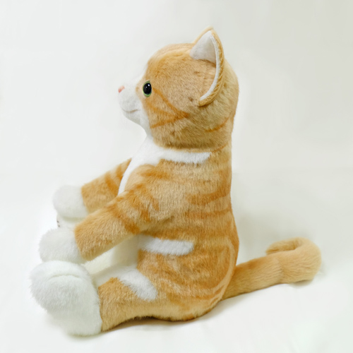 白茶トラ猫のウェイトドール 愛猫 人形