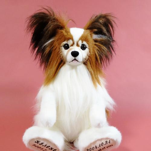 愛犬の人形 パピヨンのウェイトドール ウェイトドッグ