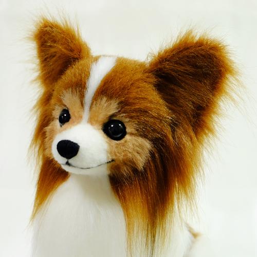 愛犬の代わり パピヨンのぬいぐるみ オーダーメイド 制作