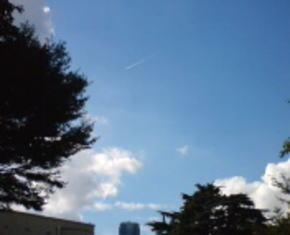 入口の森から抜けると こんなステキな雲が…!