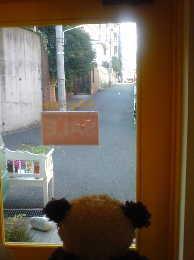 ジェフリーフルビマーリの新ショップ代官山店内から 外を覗いてみました〜