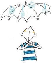 あっ 雨が降ってきた お気に入りの傘がさせます…