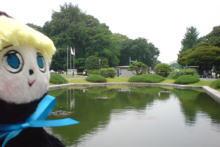 「東京都国立博物館」内の正面 噴水にて…