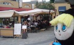 代官山 「イータリー」のテラスカフェの風景です…!!