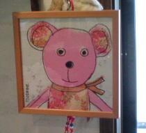 サンドリンヌ(100drine)のピンクベアのポスターです…!!