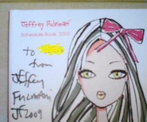 Jeffrey Fulvimari に直筆サインを頂きました〜!!