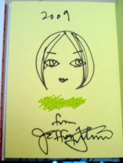 Jeffrey Fulvimari におねだりして似顔絵も描いてもらいました