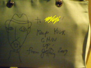 Jeffrey Fulvimari オリジナルトートバックにサインを頂いてる方も…!!