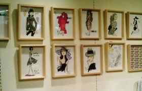ジェフリー・フルビマーリ/イラストレーション展会場には新しいイラストが飾られていました