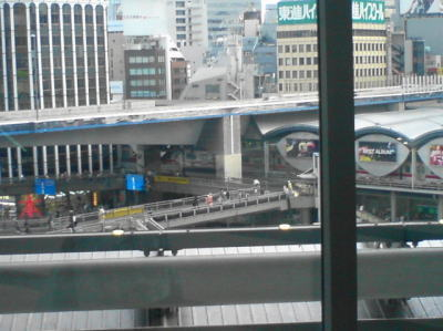 渋谷ヒカリエの4Fのアーバンコアから望む渋谷駅周辺