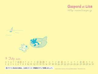 夏はガスパールのこの浮き輪姿が定番に(苦笑)壁紙7月゜+o。。o+