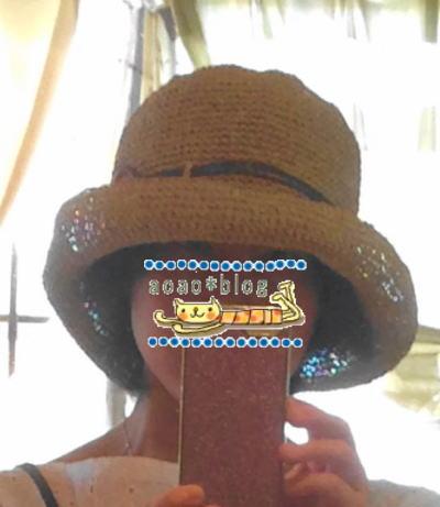 UV対策は洗えるささら和紙の帽子