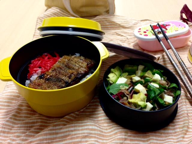 aoaoのお弁当です!!うなぎにしました〜