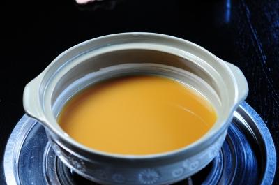 もつ真路のもつ鍋スープ