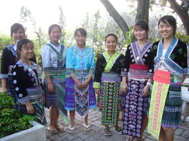 モン族の衣装