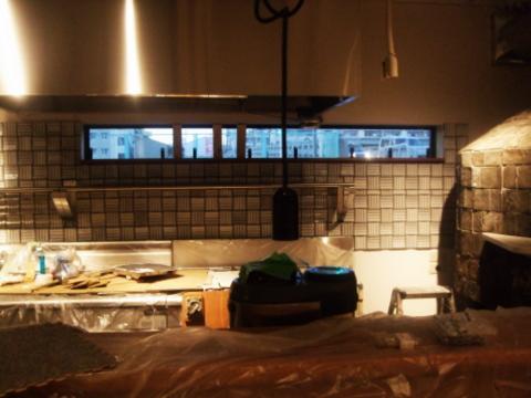 キッチンのタイル張り