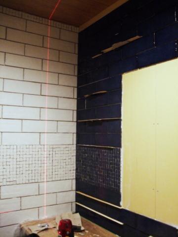 トイレのタイル張り