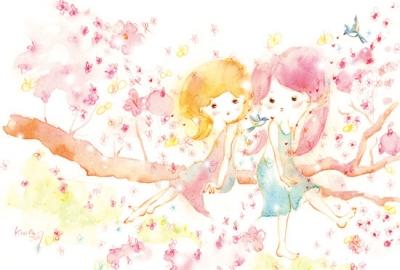 KINA 桜のイラスト