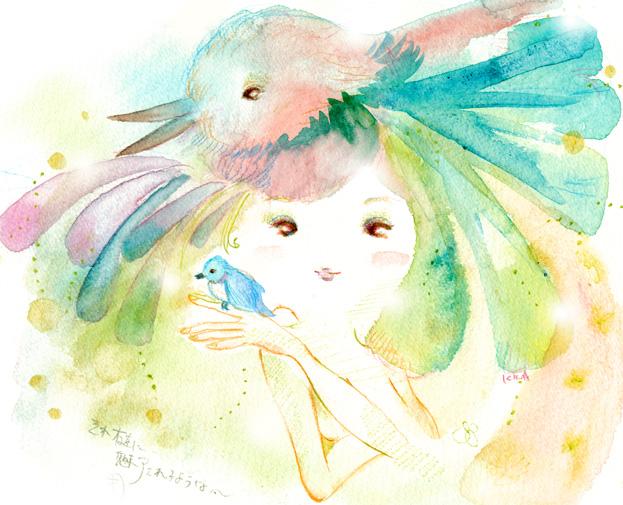 鳥の詩 KINAイラスト