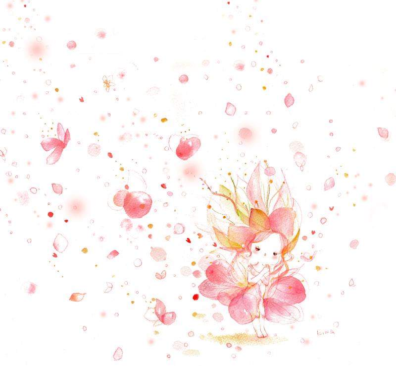 KINAイラスト 桃の花