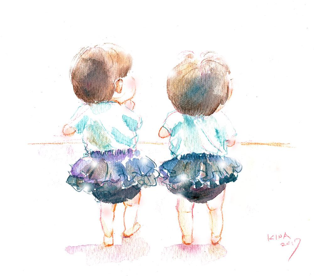 KINA 水彩色鉛筆 双子