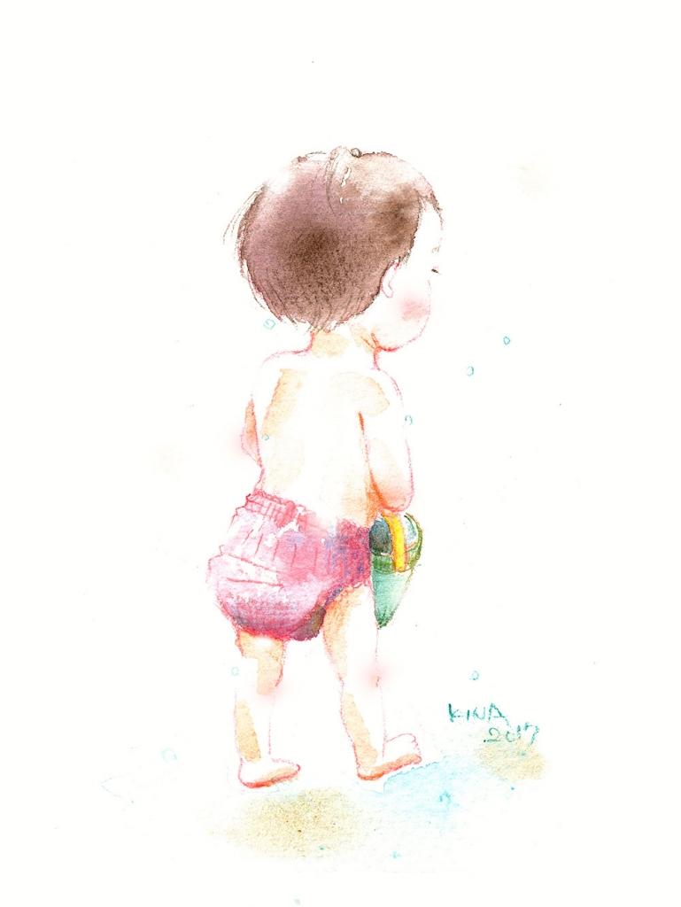 KINA イラスト 水彩色鉛筆