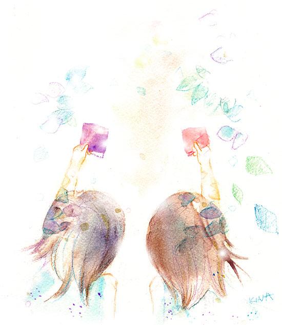 KINA 水彩 イラスト