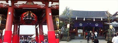 浅草寺と浅草神社