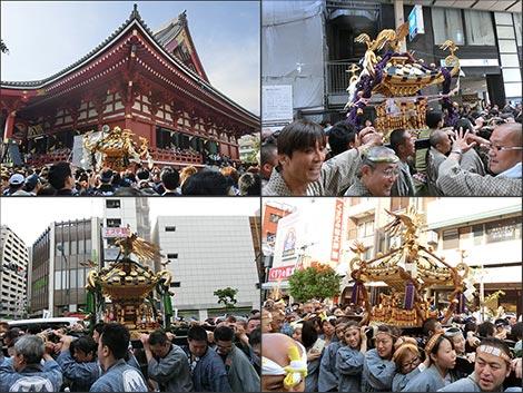 三社祭 御神輿の様子