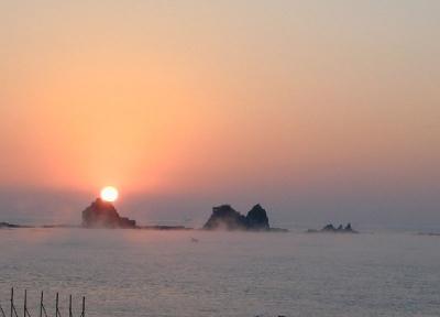 海霧と日の出