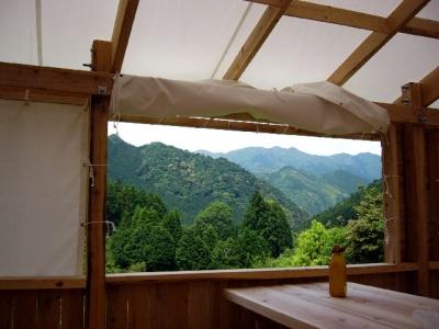 エコキャンプ熊野 間伐材 キャンプ場 熊野古道ツアー