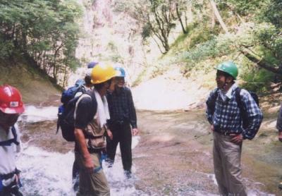 シャワークライミング 沢登り教室 栂谷