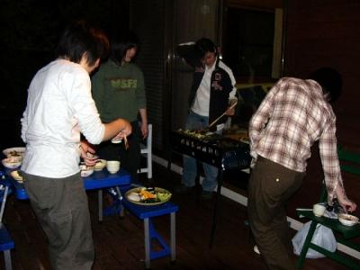 エコキャンプ熊野 夜のバーベキュー