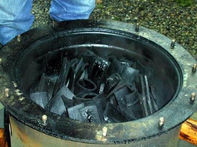 体験教室 竹炭焼き