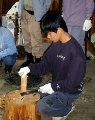 体験教室 木工体験 箸作り