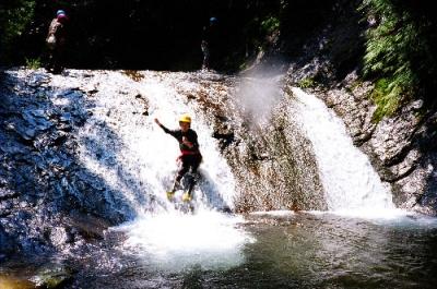 シャワークライミング ウォータースライダー滝滑り 3の滝