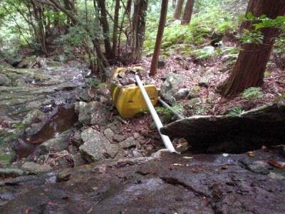 エコキャンプ熊野 山水の取水口