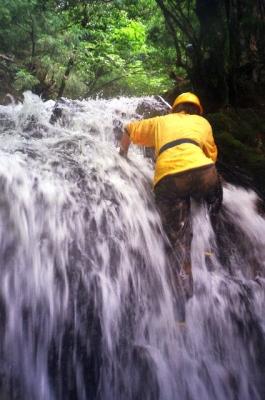 シャワークライミング 沢登り教室 滝を登る