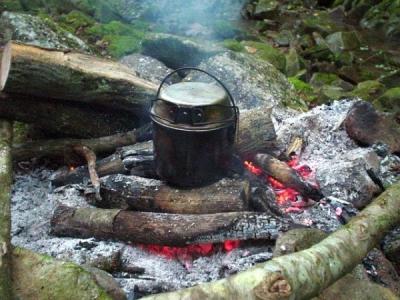 体験教室 焚き火の炊事