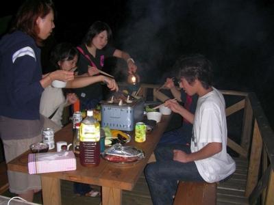 エコキャンプ熊野 楽しい夕食