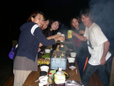 エコキャンプ熊野 乾杯!