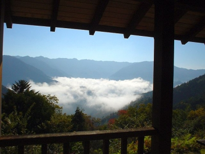 熊野古道ツアー 小雲取越え 桜茶屋跡の雲海